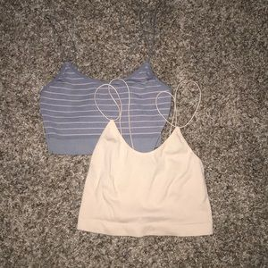 two cropped camis